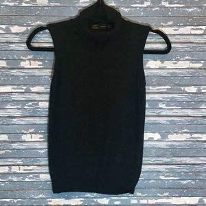 Zara Black sleeveless turtleneck
